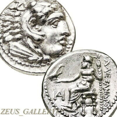 ALEXANDER the Great Lifetime Issue Coin 325 BC XF+Herakles Ancient Silver Drachm