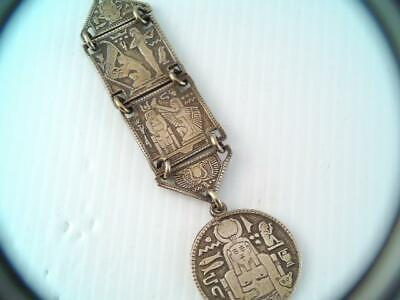 Rare Antique Victorian Lg. Egyptian Revival Pocket Watch Fob Gorgeous