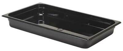 RUBBERMAID FG230P00BLA Full Size Food Pan,Hot,Black