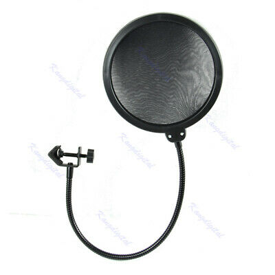 Microphone Studio Wind Screen Pop Filter Mask Shied Flexible 360° Rotations