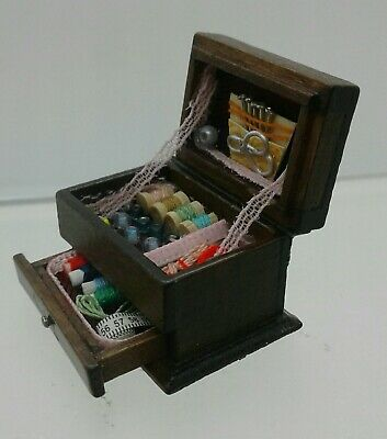 1:12th Miniature Doll House Accessories 1 Mini Sewing Box