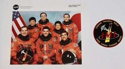 1994 NASA Space Shuttle Mission STS-65 Columbia Crew Photo + Decal Sticker