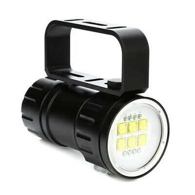 80m LED Diving Flashlight Photography Light Underwater IPX8 Waterproof Torch Lam
