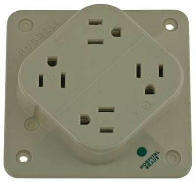 HUBBELL WIRING DEVICE-KELLEMS HBL415HI 15A Quad Receptacle 125VAC 5-15R IV