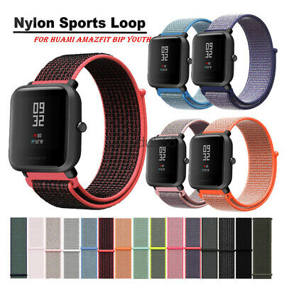 Nylon Sport Loop Watch Strap For Xiaomi Amazfit Bip Youth Smart Wrist Band 20mm