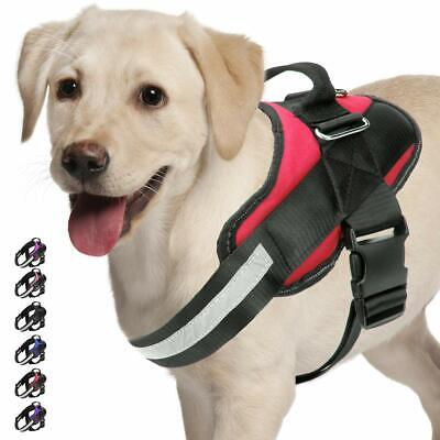 Strong Dog Harness Adjustable Soft Padded Non Pull Pet Puppy Reflective Vest