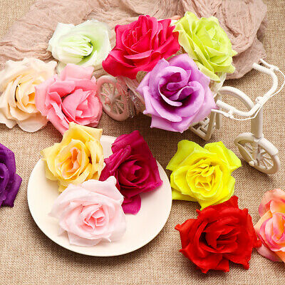Birthday Party  Floral Flower Heads  Fake Bouquet Artificial Peony Silk Rose