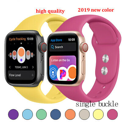 Replacement Silicone Wrist Sport Band Strap for Apple Watch Series 4/3/2/1 40/44