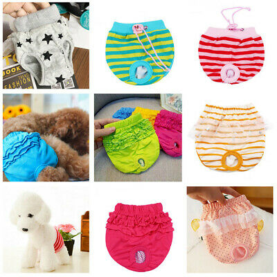 Pet Female Dog Puppy Physiological Underwear Diaper Panties Sanitary Short Pants