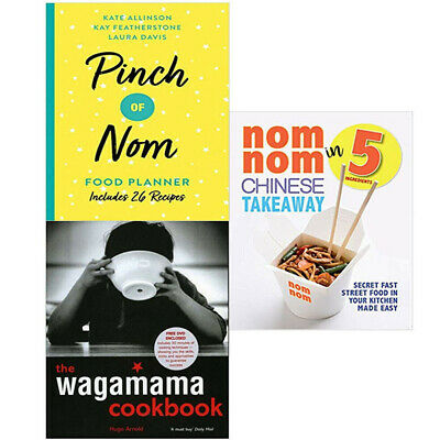 The Wagamama Cookbook,Pinch of Nom Food Planner 3 Books Collection Set NEW