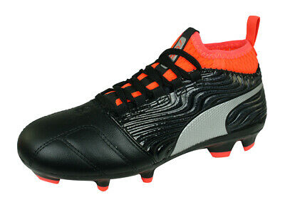 4b56a4259 Puma One 18.3 AG Jr Boys Astro Turf Soccer Cleats Kids Football Shoes Black