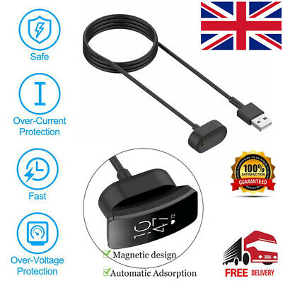 USB Charging Cable Lead for Fitbit INSPIRE Activity Tracker - Inspire HR Charger