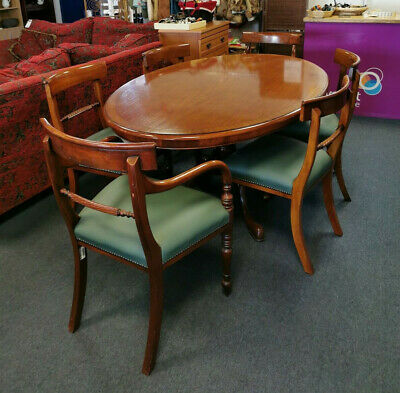 Antique Reproduction Oval Dining Table & 6 Chairs, Brights of Nettlebed -Hospice