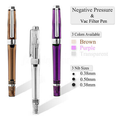 Wingsung 3013 Negative Pressure Fountain Pen EF 0.38mm/F/M Nib Ink Writing Gift