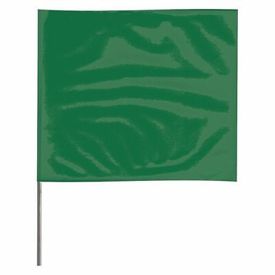 ZORO SELECT 2318GBK-200 Marking Flag,Green,Blank,Vinyl,PK100