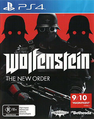 Wolfenstein The New Order for Sony Playstation 4 PS4 - Brand New - Sealed