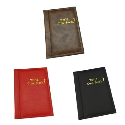 120 Coin Holder Collector Storage Penny Money Pocket PU Cover Album Book