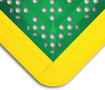 "WEARWELL 546 Interlock Drainage Mat,Green,2ft3""x2ft6"""