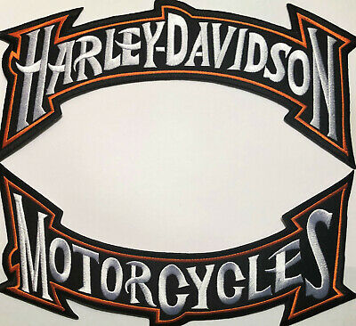 Harley Davidson Rocker Patches Set Large Biker Iron On