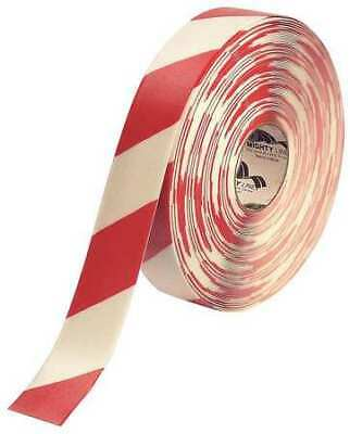 MIGHTY LINE 2RWCHVRED Ind Floor Tape,Roll,Red/White,Vinyl