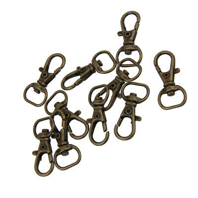 10PC Silver Swivel Trigger Clips Snap Lobster Clasp Hook Bag Key Ring Hook gvuk