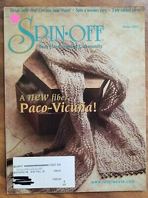 SPIN-OFF magazine Winter 2004 New Fiber Paco-Vicuna 3 ply cabled Yarns Woolen