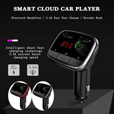 Bluetooth Wireless Handsfree Car Charger FM Transmitter MP3 Player Kit