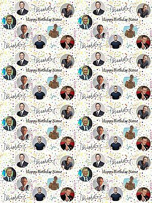 David Bowie Personalised Birthday Wrapping Paper ADD NAME//S CHOOSE BACKGROUND