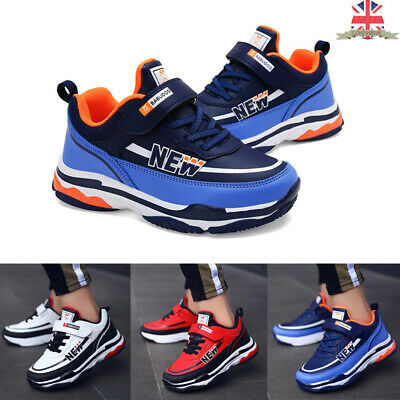 Kids Chunky Trainers Sport Shoes Sneakers Boys Girls Comfy Fashion Faux Leather