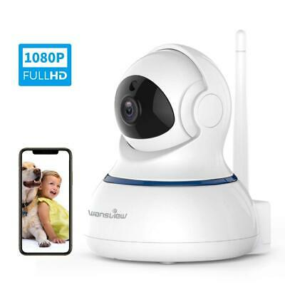 Wansview Camera de Surveillance WiFi, FHD 1080P Cloud IP sans Blanche