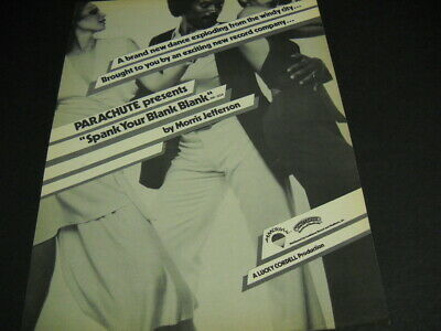 MORRIS JEFFERSON with two ladies SPANK YOUR BLANK BLANK 1977 Promo Poster Ad