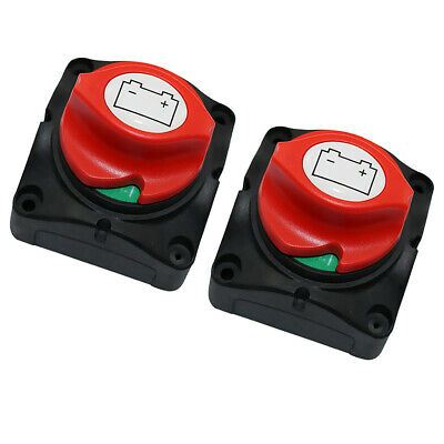 2 Packs 400A Battery Isolator Disconnect Power Switch for Car Marine Boat