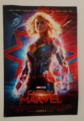 Captain Marvel (2019, Brie Larson) movie poster, 27x40, double sided