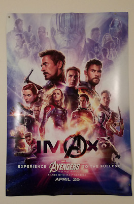 Avengers Endgame (Rare IMAX design) poster, full-sized (27x40), double sided