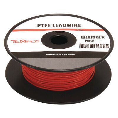TEMPCO LDWR-1053 High temp Lead Wire,18 Ga,Red