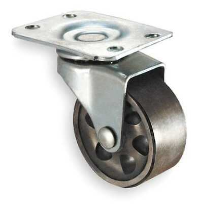ZORO SELECT 1NVU2 Swivel Plate Caster,Cast Iron,6 in.,1750 lb.,A