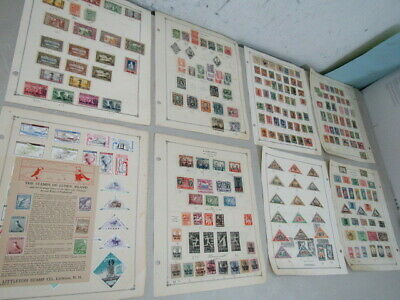 Nystamps Russia Lithuania old stamp collection Album page