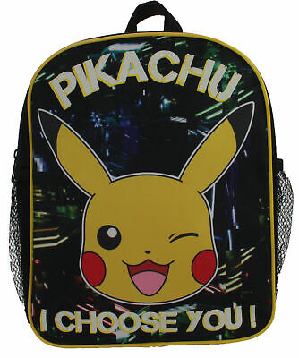 Pokemon Pikachu Neon City Lights Glow In The Dark Childrens Backpack School Bag