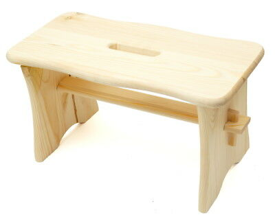 Small Plain Pine Wood Step Stool Wooden Chair Rustic Shabby Chic Farmhouse Play