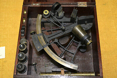 Vintage London James Crichton Sextant with all Accessories in Original Box