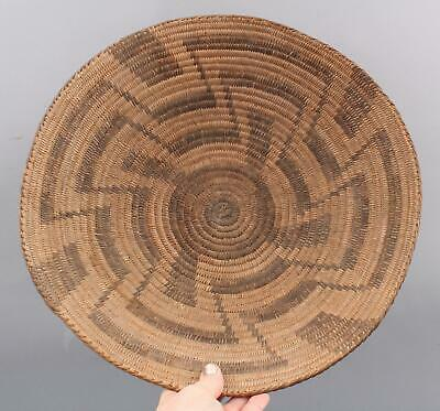 Large Antique Circa-1900 Western Native American Pima Indian Basket Plate