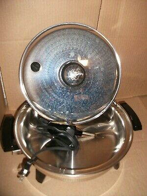 "Royal Prestige 11"" Electric Skillet With Vented Lid Liquid Core Stainless Steel+"