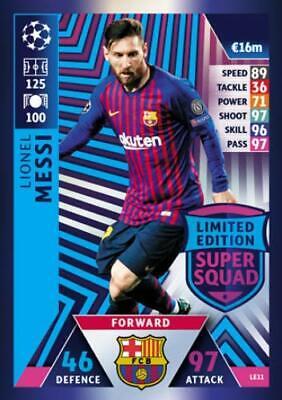 Match Attax Champions League 2018/19 Limited Edition 100 Club Trading Cards