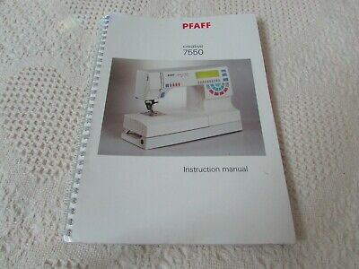 Pfaff 7550 Others ORIGINAL SEWING MACHINE Manual Used Pre-Own Condition