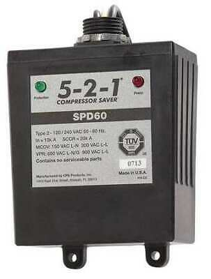 5-2-1 COMPRESSOR SAVER SPD60 Surge Protection Device,1 Phase,120/240V
