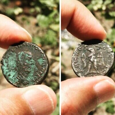 Ancient Greek/Roman BC/AD unknown Silver  unclean coin intact rare