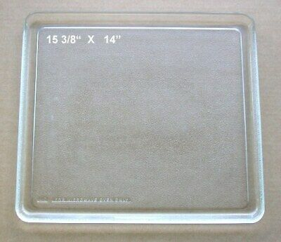 "Vintage Recycled Microwave Glass Tray 15 3/8"" X 14"""
