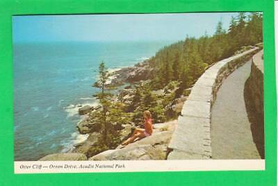 Postcard ~ Outer Cliff Ocean Dr., Acadia national Park~ Vintage 7468