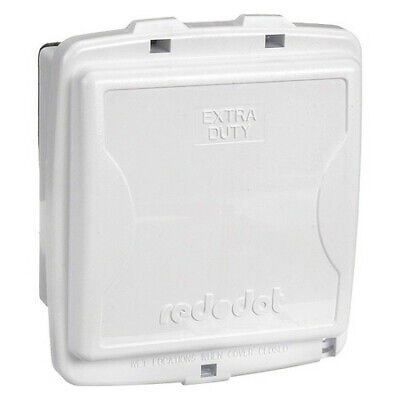 RED DOT 2CKPM-W While In Use Weatherproof Cover,White