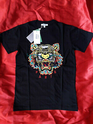Kenzo Men T-shirt  New With Tags Short Sleeve Color Black